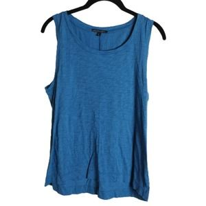 The Refinery Blue Soft Tank Top Large